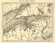 Bay Of Fundy. Canada. Nova Scotia. Sketch Map 1886 Old Antique Plan Chart