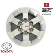 New Oem Toyota Trd 16and039and039 Silver Alloy Wheels And Lug Nuts 4-piece Set