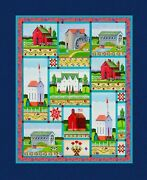 34 Fabric Panel - Springs Jim Shore Village Farm Country Primitive Wallhanging