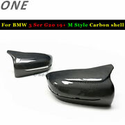 M Style Carbon Fiber Shell Casing For 19+ Bmw 3 Ser G20 G21 Replace Mirror Cover