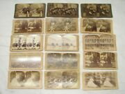 Set Early Us President Mckinley Stereograph Real Photo Stereoview Cards Views
