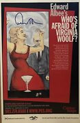 Edward Albee Signed Whoandrsquos Afraid Of Virginia Woolf Poster