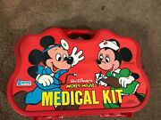 Unused - 1976 Mickey Mouse Walt Disney Medical Kit By Empire S4