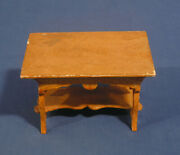 Vintage Antique Miniature Doll Furniture Table Grain Painted Orig Label Spafford