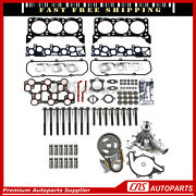 Head Gasket Bolts Lifter Timing Chain Water Pump 98-00 Ford 4.2l F150 E150 E250