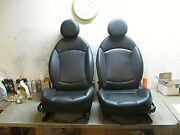 Front Pair Leather Heated Manual Seats Mini Cooper S Clubman 08 09 10 11 12 13