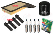Denso Tune Up Kit W/ Coil Boots For 2015-2018 Ford Mustang 2.3l Turbo Ecoboost