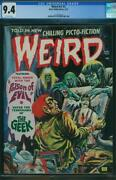 Weird 7 3 Cgc 9.4 Ow P 2nd Highest Graded Eerie Terror Poison Of Evil 1973 A2