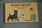 Vintage Black And White Scotch Whisky Ad Litho Table Sign Calendar,england