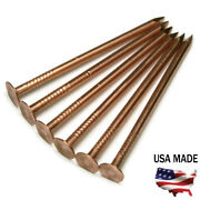 10 Gauge Copper Roofing Nails Smooth Shank Diamond Point - Choose Length And Qty