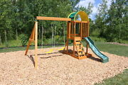 Kidkraft Ainsley Wooden Swing Set Up To Six Children Soft-touch Swing Rope