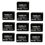 10 Pack New F1 12v 8ah Battery Replacement For Silent Knight 6712 Bat-1270-bp