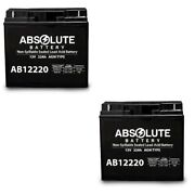2pk New 12v 22ah Badsey Hot Scoot Electric Scooter Agm Sealed Deep Cycle Battery
