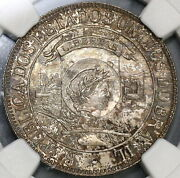1900 Ngc Ms 64 Brazil 1000 Reis Discovery Silver Coin 33k Minted 19080701c