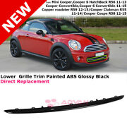 Glossy Black Lower Grille Trim Piece For 11-15 Mini Cooper Front Center Molding