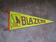 1973/74 1974/75 Vancouver Blazers Wha Hockey Pennant Flag Streamers And Grommets