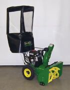 Snow Blower Cab For Snapper Mid-frame 2-stage With Light Bar Black Vinyl