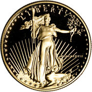 1988-p American Gold Eagle Proof 1/2 Oz 25 - Coin In Capsule