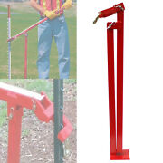 T-post Puller Steel Studded Fence Post Remover Leverage Lifter