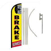 Brake Service Full Curve Swooper Windless Advertising Flag Auto Service Brakes