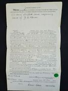 Us 1875 Maine Non Resident Land And Tax Deed For 2 1/2 Acres Taxed 56 Cents