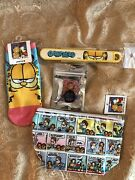 Garfield Storage Bag Chopstick Sock And Finger Ring For Phone From Japan