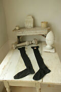 Vintage Socks Black Stockings Long Over The Knee French Gc Qualitandeacute Extra Brand