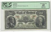 1923bank Of Montreal 20 Note Pcgsef-45 Minor Stsn 122493 Large Note