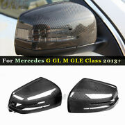 Carbon Fiber Mirror Cover For 13+ Mercedes G W463 X W166 Gle Ml Amg Shell Casing