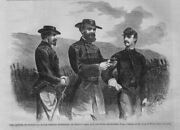Civil War Major General Mcpherson Of Grants Army And His Chief Engineer Officers