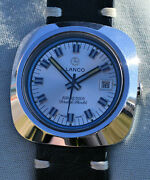Rarest Lanco Automatic Airvac 6000 In Steel Case Big Graphics Blue