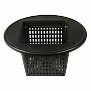 6 Square Basket Lid Net Pot With Wide Lip - Fits 3-5 Gallon Buckets Dwc System