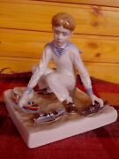 Soviet Porcelain Ussr, The Figure Of The Boy. The Young Sailor, Lfz