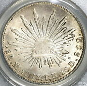 1863-mo Th Pcgs Ms 63 Mexico 8 Reales Mint State Silver Coin 19082504c