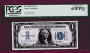 Fr.1606 1 1934 Silver Certificate Funny Back Near Solid E 92222222 A Pcgs