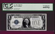 Fr.1601 1 1928 A Silver Certificate Funny Back - Near Solid K 85555555 A Pcgs