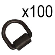 100- Weld-on 1/2 D Rings Flatbed Truck Trailer Cargo Tie Down Ratchet Strap