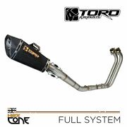Toro T1 Hex Cone Gloss Carbon Full Exhaust System