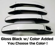 Custom Black And Color Door Handle Overlays 2015 - 2019 Gmc Canyon You Pick Clr