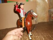 Larger Vintage Hartland Seth Adams Figure With Horse Gun And Rifle
