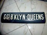 Ny Nyc Subway Roll Sign Gg Brooklyn Queens Bklyn 1939 Worlds Fair Court Square