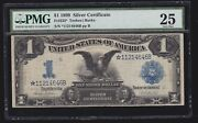 Us 1899 1 Black Eagle Silver Certificate Star Note Fr 233 Pmg 25 Ch Vf -646