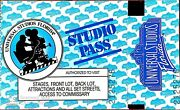 Vintage Universal Studios Studio Pass Still Valid From The Year 1990 1 Day Pas
