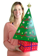 Spinning Wood Magnetic Christmas Tree Advent Calendar With Ornament Magnets