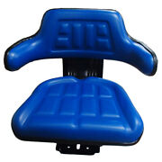 Blue Wrap Back Tractor Suspension Seat Fits Ford / Fits New Holland 600 601 800