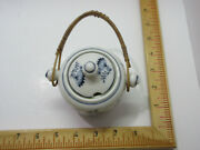 Rare Vintage Blue Onion Sugar Cube Holder With Knobs Top And Hanger Meissen