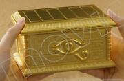 Yu-gi-oh Duel Monsters Replica Gold Sarcophagus Diecast Model 1/1 By Movic Used