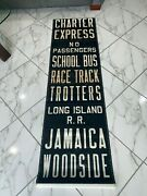 Ny Nyc Bus Roll Sign Express Race Track Trotters Lirr Jamaica Woodside Charter
