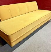 Mid Century Modern Sofa Couch Daybed Danish Trundle 1950-1960 Removable Back
