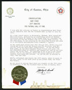 Packers Bart Starr 1977 Hall Of Fame Induction Letter From Canton Ohio